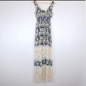 Anthro Sunday In Brooklyn Crochet Maxi Dress Sz S
